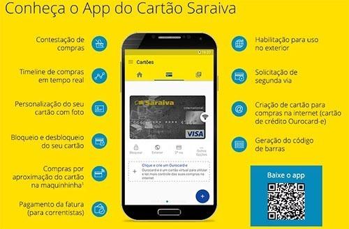 App Saraiva Cartão