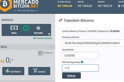 transferencia de bitcoin