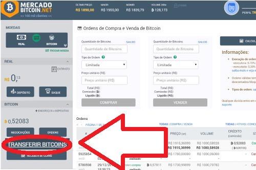 transferir bitcoin