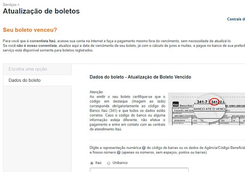 banco itau-boletos vencidos