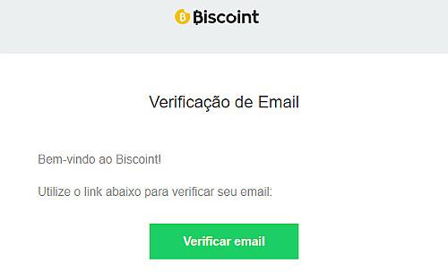 biscoint verificacao de email